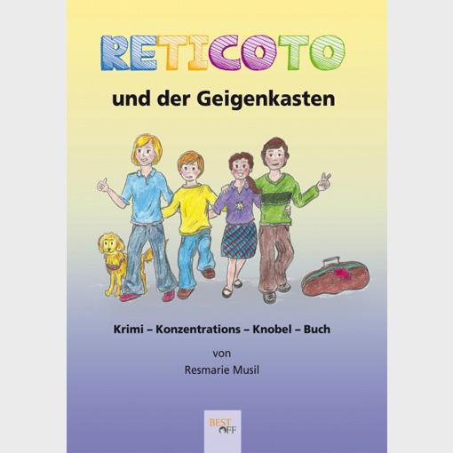 Reticoto und der Geigenkasten von Resmarie Musli ist ein Krimi-Konzentrations-Knobel-Buch, dass Kindern zwischen 8 und 13 Jahren auf spielerische Weise helfen soll, sich besser zu konzentrieren und aufmerksamer zu sein.