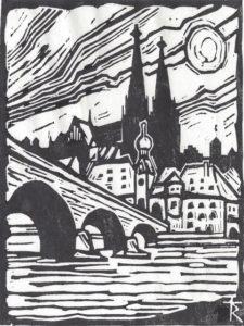 Richard Triebe, Steinerne Brücke